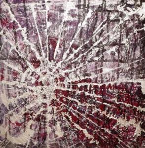 Artista:Laura Sogues. Título: Bucle temporal. Técnica: Acrílico sobre lienzo.