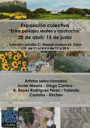 Exposición colectiva Entre Paisajes reales y abstractos LaSalita Gijón