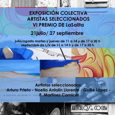 cartel exposición sexto aniversario gijón