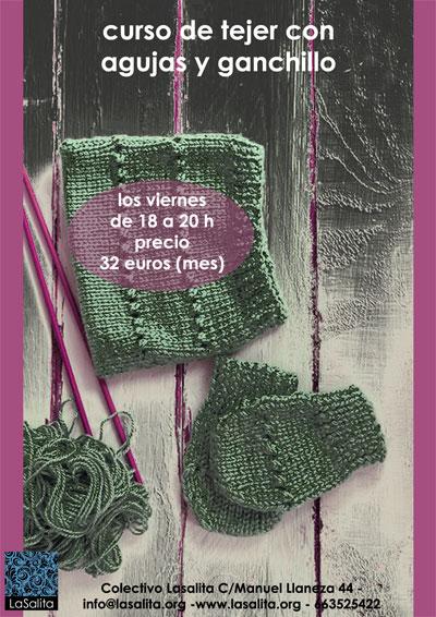 curso del tejer con agujas y ganchillo en gijón