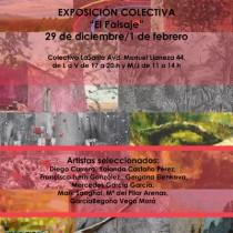cartel exposición el paisaje en Gijón