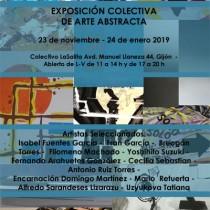 cartel expo abstracta en Gijón
