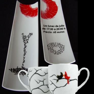 cartel-curso-de-decoración-de-ceramica-Gijón